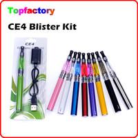 Cigarrillo E cig kits Blister CE4 atomizador de 650mAh batería 900mAh 1100mAh CE4 Kits de inicio de Electrónica en envases de plástico de varios colores DHL