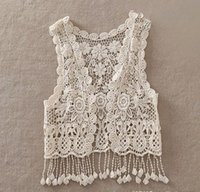 2015 Big Girls Sleeveless Cardigan Waistcoat Lace Hollowed O...