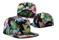 Casquette Snapback Noir Imprimé Fleuri Caps , Hot Selling Sna...