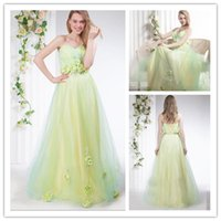 2015 Sweetheart Prom Dress with Beautiful Handmade Flowers F...