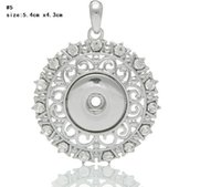 5 style Noosa ginger snap button necklace pendants Top quali...