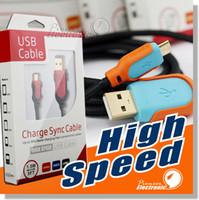 Câble micro USB de haute qualité, câble USB 2.0 à haute vitesse USB 2.0 de 1,5 m, connecteur mâle à micro B et câble de chargeur pour Android, Samsung, HTC, Motorola Etc.