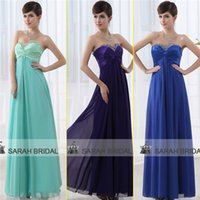 2015 Cheap Long Bridesmaid Dresses Under 50$ Purple Blue Min...
