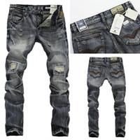 Venda quente 2015 Homens Novos Straight Designer Jeans Jeans Calças Calças Jeans Straight Designer 29-38 R604