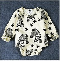 Long Sleeve Cotton Mini Rodini Zebra Print Kids Clothes Baby...