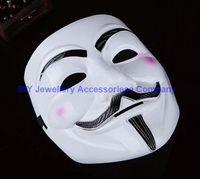 20pcs 20 * 16cm V Masque Halloween masques mascarade Vendetta Anonyme Valentine boule de partie musache masque facial de Super Effrayant Guy Fawkes