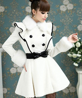 2014 Women' s Clothing Fashion Wool & Blends White lotus...