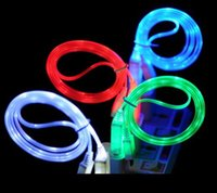 1M Micro USB LED Light Up Data Cable Sync Charge Cable for S...