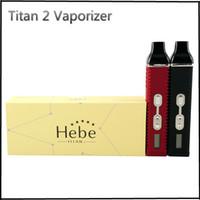 Titan 2 комплекта сухой травы испаритель TITAN 2 с 2200mAh ЖК-дисплей ЖК-дисплее отображается температура и Battery Meter Titan 2 пара титан