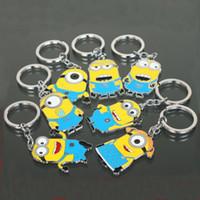 Livraison gratuite Movie Cartoon Despicable Me porte-clés porte-anneau mignon petit Minions figure porte-clés Keyring Pendentif 2015 Cadeaux Noël