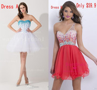 2015 Crystal Homecoming Dresses A Line Short Cocktail Gowns ...
