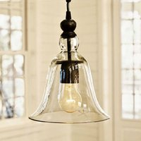 New Antique Vintage Style Glass Shade Ceiling Light Pendant ...