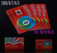 Newest E- paper Gevey Sim Unlock Card Perfect unlock 4g 3g io...