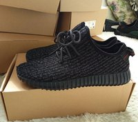 Pirate Black 350 Boost Shoes Kanye West 350 Running Shoes Sn...