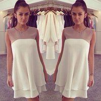 2015 Summer Blouse Sleeveless Women' s Chiffon Peplum Ca...