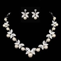 2015 New Pearls Crystal Rhinestone Bridal Jewelry Imitate Bu...
