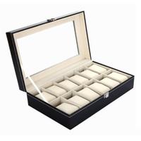 12 Grids Leather Watch Cases Jewelry Display Storage Organiz...