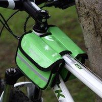 Tubo Borse ROSWHEEL Bicicletta Borsa Ciclismo Telaio anteriore Pannier sacchetto della bici di cuoio doppio in bicicletta il sacchetto del sacchetto per Mountain Road Bike Y1041