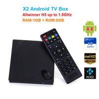 Original Beelink X2 Android 4,4 TV BOX H3 Quad-cœur Cortex-A7 4K * 2K HD 1080P Boîte Smart OTT TV mieux que mxq, cs918, m8, mx
