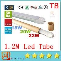 CE ROHS UL + 4ft 1. 2m 1200mm T8 Led Tube 18W 20W 22W Warm Na...