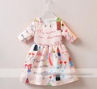 New 2015 Summer Girls Dress Heart Ballon Print Cotton Zipper...