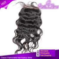Brazilian Remy Human Hair Natural Wave Lace Frontal Closure ...