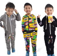 Autumn Winter Flocking Thicken Cartoon Printed Baby Boys Gir...