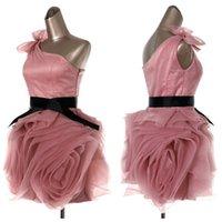 Blush Organza Bridesmaid Dresses Fashion Flange Layered Skir...