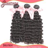 Brazilian Peruvian Malaysian Indian Hair Weft Weave 100% Unp...
