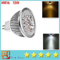 MR16 12W Led Light Dimmable MR16 4X3W 12W Spotlight 12V 4- CR...