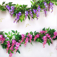 2 Meter Extra Long Artificial Wisteria Decorative Flowers Vi...