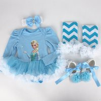 baby girl infant toddler 4piece outfits frozen elsa anna Car...
