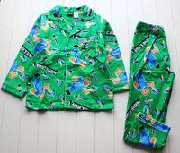 minecraft long sleeve flannel boys sleepwear pajamas 6T- 12T ...
