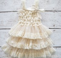 NEW ARRIVAL baby girl infant toddler lace dress princess flo...