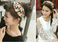 2015 Fashion Lady Woman Girls Flower Lace- up Tulle Headband ...