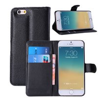 for 4. 7 iPhone 6 6G Flip Litchi Grain Wallet Style PU Leathe...