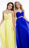 2014 Fashion Blue and Yellow Sheath Sweetheart Floor length ...