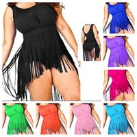 Newest Women Fringe Plus Size Swimwear One Piece Monokini Wi...