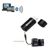 Bluetooth Audio ricevente di musica Alimentatore da auto sistema stereo Audio portatile Mini 3,5 millimetri audio USB Bluetooth Car Kit V1332