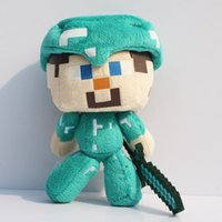 16cm Minecraft Plush Toys Steve with Diamond Edition Sword S...