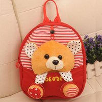 Factory Price Cute Baby Child Kid Canvas Backpack Little Bea...