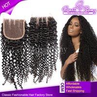Cheap 6A Brazilian Human Virgin Hair 3 Part Kinky Curly Top ...