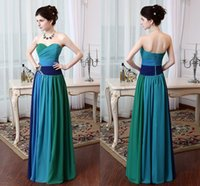Bridesmaid Dresses under 100$ 2014 Multi- color Sweetheart Be...