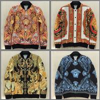 Осенне [Эми] 2015 Мужские куртки V-образным вырезом однобортный хорошее качество космической куртки хлопка печатные 3D бренд куртка мужчин J31 J35-свободный корабль