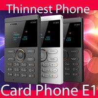 Mini-téléphones bon marché 2015 nouvelle petite taille de style IFcane carte E1 téléphone mini téléphone portable ultra-mince téléphone mini carte de crédit radio FM