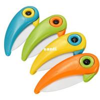 Новые прибытия птицы Рио Приключение Форма Раскладной Керамический нож для резки фруктов Растительные обстрагывая Мини Ножи