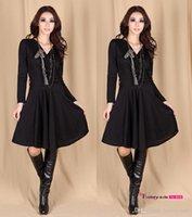 2015 Spring Fall Popular Fashion Dress V Neck Long Sleeves C...