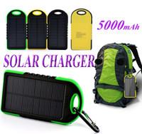 5000mAh Solar Charger Waterproof Shockproof Solar Panel Batt...