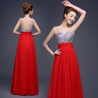 2016 A- line jewels prom dresses sexy tulle backless long pro...