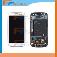 Original LCD pour Samsung Galaxy S3 i9300 I9308 I9305 I747 I535 T999 écran LCD écran tactile Digitizer Assemblée avec cadre Livraison gratuite DHL